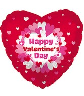"""18"""" Happy Valentine's Day Balloon Ring of Hearts"""