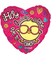 "18"" Hoy Quiero Decirte Te Amo Love You Today"