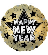 """17"""" New Year Stars Balloon"""