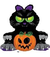 "32.5"" X37"" Big Black Cat Balloon"