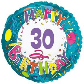 "18"" Happy 30 Birthday Streamers"