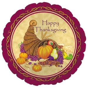 "18"" Happy Thanksgiving Cornucopia"