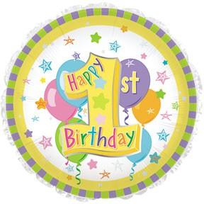 "18"" Happy First Birthday #1"