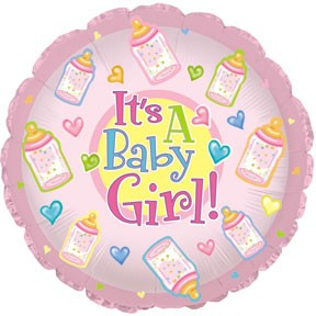 "18"" It's a Baby Girl Bottles"