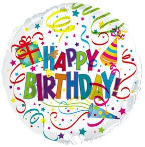 "18"" Happy Birthday Party Hat & Horn"