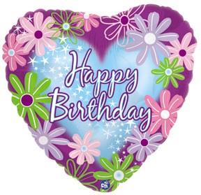 "18 "" Happy Birthday Twinkle Stars"