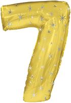 """38"""" Gold Sparkle Seven Jumbo Number Balloon"""