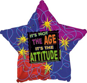 """18"""" It's Not the Age It's the Attitude Star"""