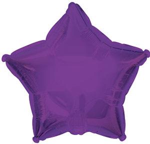 """9"""" Purple Star Balloon"""