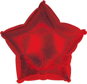 """9"""" Airfill Red Dazzleloon Star M145"""
