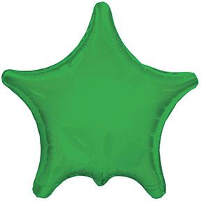 """22"""" Green Star Balloon"""