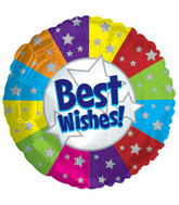 "17"" Best Wishes Balloon Packaged"