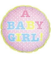 "18"" A Baby Girl Little Hearts Balloon"