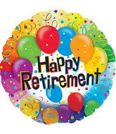 """17"""" Happy Retirement Balloon Packaged"""