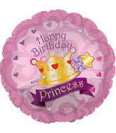 "17"" Happy Birthday Day Princess Crown Gems Packaged"