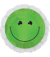 "17"" Green Smiley Balloon Packaged"