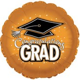 """18"""" Congratulations Grad Orange"""