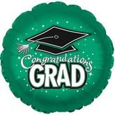 """18"""" Congratulations Grad Green"""