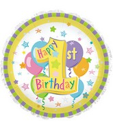 """17"""" Happy First Birthday #1 Packaged"""