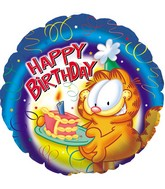 "18"" Garfield Birthday Piece of Cake"