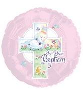 "17"" Pink Baptism Balloon"