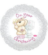 "17"" On Your Christening Girl L Balloon"