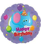 """9"""" Airfill Happy Birthday Day Party Elephant Balloon"""