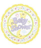 """9"""" Airfill Baby Shower Moon & Stars M19"""