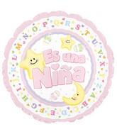 "9"" Airfill Es Una Nina Stars & Moon M24"