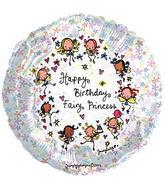 "9"" Airfill Juicy Lucy Fairy Princess ! Balloon"