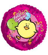 "9"" Airfill Kikin Feliz Cumple Balloon"