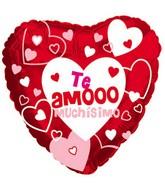 """18"""" Te Amo Muchisimo Mylar Balloon"""