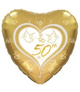 """17"""" 50th Wedding Anniversary Packaged"""