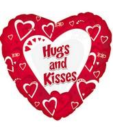 "18"" Hugs & Kisses Red Balloon"