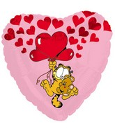 """17"""" Garfield Pooky Floating Up With Hearts Packaged"""