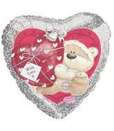 "17"" Fizzy Moon Love Balloon Packaged"