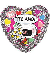 "17"" ""Te Amo"" Many Flowers Balloon"