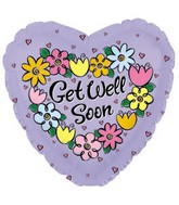 """9"""" Airfill Get Well Daisies & Tulips M71"""