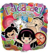 """17"""" Felicidades Square Balloon"""
