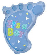 "22"" It's A Boy Foot Shape Balloon"