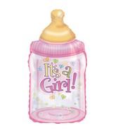 """33"""" It's A Girl Baby Bottle Shape-A-Loon Box102"""