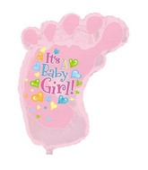 """34"""" It's A Girl Baby Foot Shape-A-Loon Box108"""