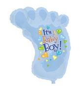 """38"""" It's A Boy Baby Foot Shape-A-Loon"""