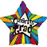 """18"""" Congrats Grad Stars and Stripes"""