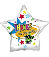 "17"" Thanks For Everything Star With Weight Packaged"