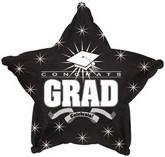 """18"""" Congrats Grad Black Star"""