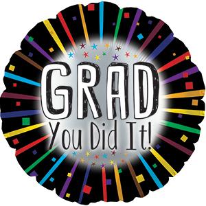 "17"" Grad, You Did It! Balloon Balloon"