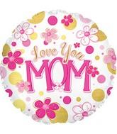 """17"""" Love You Mom Balloon Balloon"""