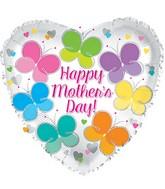 """17"""" Happy Mother's Day Flutterflies Balloon"""