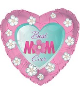 """17"""" Floral Best Mom Ever Balloon"""